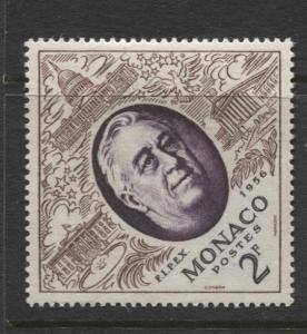 Monaco - Scott 355 -FIPIX -1956 - MLH - Single 2f Stamp
