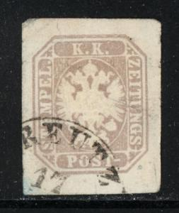 Austria 1863 P8b used, 4 wide margins (CV 20.00)