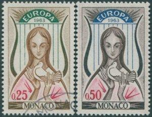Monaco 1963 SG772-773 Europa FU