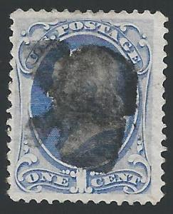Scott 134, Used, 1870-1 National Banknote Issue with Grill