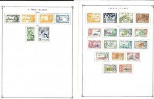 Cayman Islands 1946-1994 M & U Hinged on Scott Internation Pages Thru 1999.