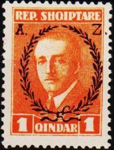 Albania. 1927 1q S.G.211 Mounted Mint