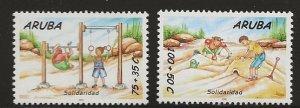 ARUBA  SC #  B59 - 60  MNH