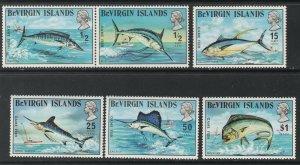 BRITISH VIRGIN ISLANDS #243-8 MINT NEVER HINGED COMPLETE