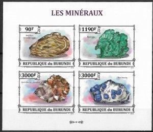 Burundi MNH S/S Minerals 2011 4 Stamps