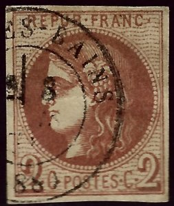 France Sc #39 Used F-VF SCV$250...French Stamps are Iconic!