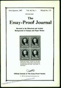Essay-Proof Journal No173 De La Rue Trans-Mississippi 44693