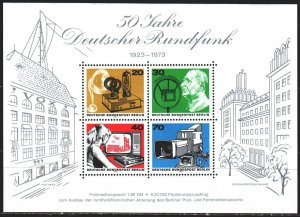 West Berlin. 1973. bl4. 50 years of radio in Germany. MNH.