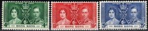 Hong Kong #151-3  MNH  CV $32.50  (X275)
