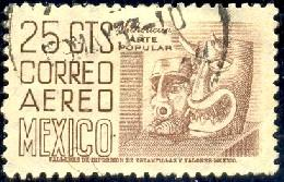 City, Michoacan, Masks, Mexico stamp SC#C189 used