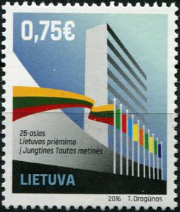 Lithuania. 2016. 25th Annivю of Lithuania's Accession to the UN (MNH OG) Stamp