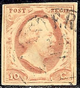 Netherlands #2 and 2a  Used F-VF