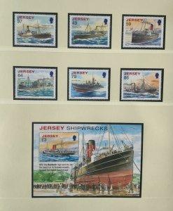 JE91) Jersey 2011 Shipwrecks set of 6 & M/S MUH