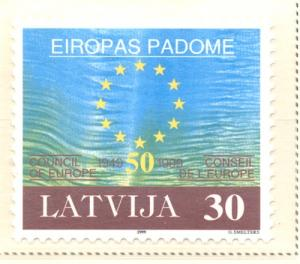 Latvia Sc 486 1999 Council of Europe stamp mint NH