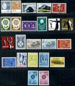 NETHERLANDS Sc#423-445 1964-1967 Fourteen Complete Sets Most OG Mint Hinged