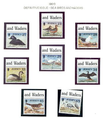Jersey  Sc909-16 1999 seabird & waders stamps NH