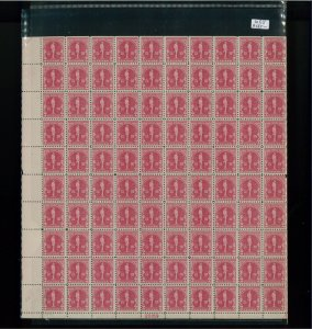 1930 United States Postage Stamp #688 Plate No. 20169 Mint Full Sheet