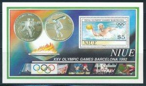 Niue - Barcelona Olympic Games MNH Sports Sheet (1992)