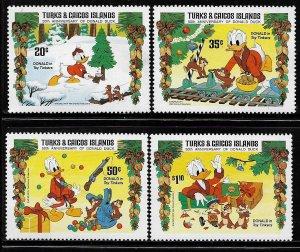 TURKS & CAICOS ISLANDS, 645-649,  MNH,  DONALD DUCK