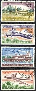 Dahomey Sc# C20-C23 Used 1963 100fr-500fr Boeing 707