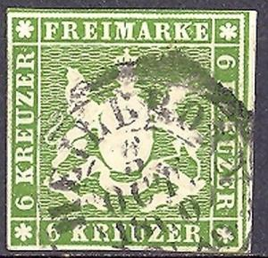 Wuerttemberg #16 VF   Used  signed Heinrich
