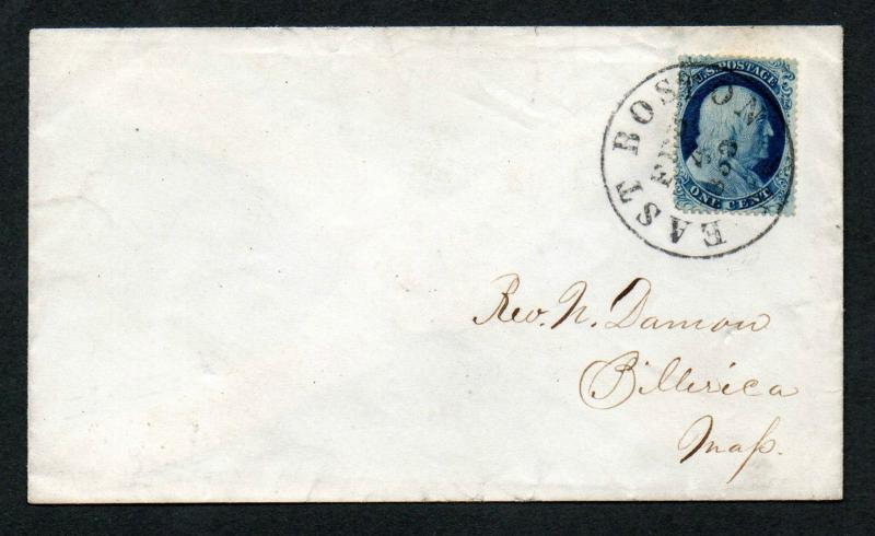 US Scott #21 on East Boston  Feb 4, 1858 CDS Cancel ex. Siegel Cover