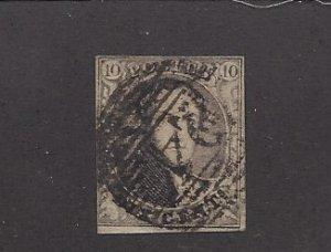 Belgium, 3, King Leopold I Single, **Used** Z1