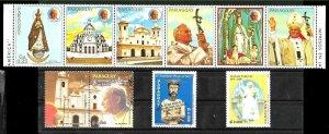 PARAGUAY 2005 LOT ISSUES MEMORIAL LIFE POPE JUAN PABLO II MNH
