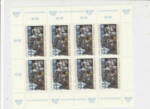 Austria 1993 Medieval Men Fighting Mint Never Hinged Stamps Sheet Ref 24772