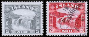 Iceland Scott 170-171 (1931) Mint/Used H F-VF, CV $17.75 B