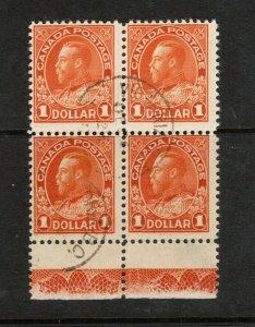 Canada #122 Used Lathework D Block With Victoria BC CDS Dec 26 1923 Cancel