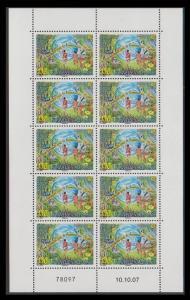 New Caledonia Happy New Year Sheetlet of 10v SG#1429 MI#1451