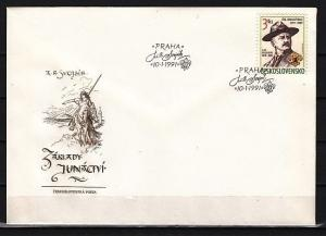 Czechoslovakia, Scott cat. 2816. Scouting issue. First day cover.