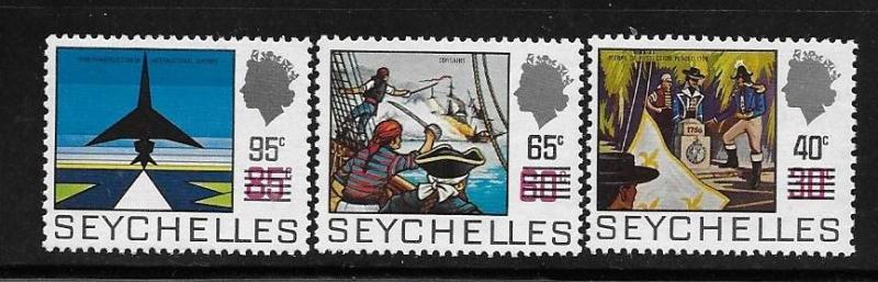 Seychelles 1971 QE Surcharged with new value MNH A3