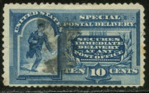 US Sc#E2 1885 10c Special Delivery No Line Under TEN CENTS Used