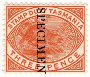 (I.B) Australia - Tasmania Revenue : Stamp Duty 3d (specimen)
