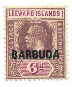 Barbuda, Scott #5, Unused, Hinged
