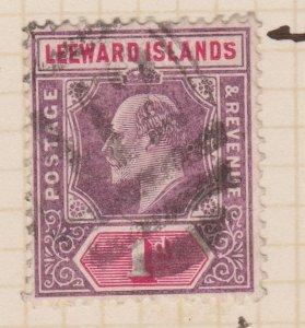 Leeward Islands Sc#30 Used Variety - Shaved S in Islands