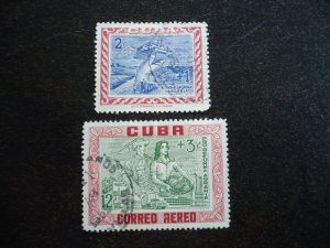 Stamps - Cuba - Scott#B3, CB1 - Used Set of 2 Stamps