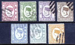 Labuan - Scott #42-48 - Used - SCV $4.70