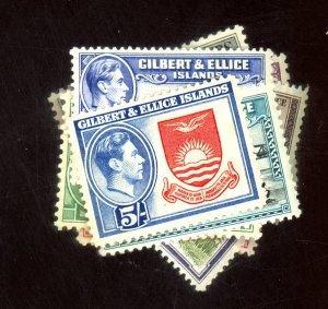 GILBERT & ELLICE IS #40-51 MINT F-VF OG LH Cat $34