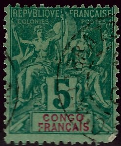 French Congo SC #21 Used F-VF hr SCV$6.00...Bid to Win!
