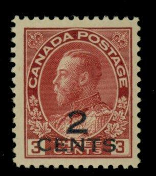 Canada #140 MINT VF OG LH Cat$25