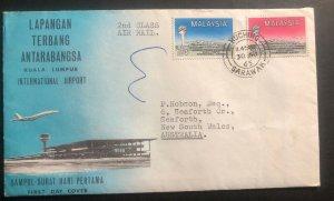 1965 Kuching Sarawak Malaysia First Day Cover To Australia International Airport