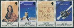 British Antarctic Territory 1986 SG147-150 Halleys Comet set MNH