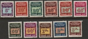 French Equatorial Africa Sc #J1-J11 Mint Hinged
