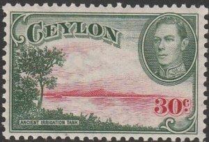 Ceylon, #285  MH From 1938-52