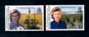 [72052] Falkland Islands 2000 Visit Princess Alexandra Trees  MNH
