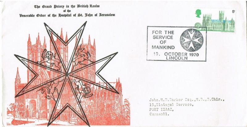 GREAT BRITAIN 1970 -  ORDER OF SAINT JOHN OF JERUSALEM, SOUVENIR COVER