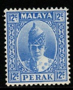 MALAYA PERAK SG113 1938 12c BRIGHT ULTRAMARINE MTD MINT